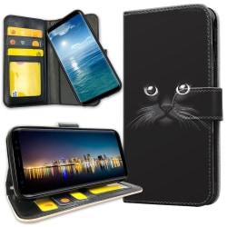 OnePlus 5T - Plånboksfodral Svart Katt