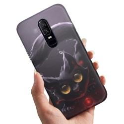 OnePlus 6 - Skal / Mobilskal Svart Katt