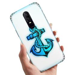 OnePlus 6 - Skal / Mobilskal Tecknat Ankare