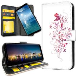 OnePlus 6T - Plånboksfodral Blommor & Fjärilar