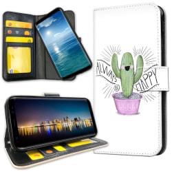 OnePlus 6T - Plånboksfodral Happy Cactus