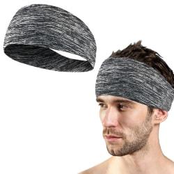 Pannband / Svettband / Hårband - Grå