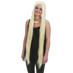 Peruk Extra Lång Blond - Halloween & Maskerad