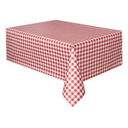 Plastduk / Bordsduk / Duk till Bord - Rödrutig
