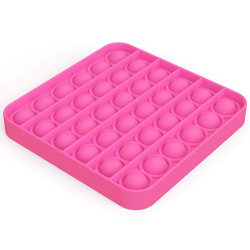 Pop It Fidget Toys - Leksak / Sensory - Fyrkant - Rosa Rosa