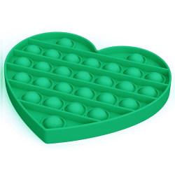 Pop It Fidget Toys - Leksak / Sensory - Hjärta - Grön Grön