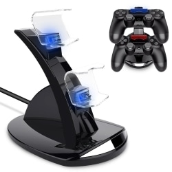 PS4 Dubbelladdare - Laddare Kontroll / Handkontroll Playstation