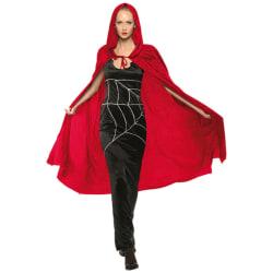 Röd Kappa / Mantel / Huva / Vampyr - Halloween & Maskerad