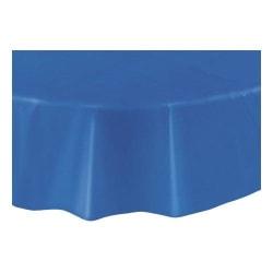 Rund Plastduk / Bordsduk / Duk till Bord - Gul Blå