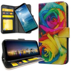 Samsung Galaxy A10 - Plånboksfodral Färgade Rosor