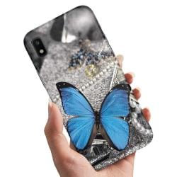 Samsung Galaxy A10 - Skal / Mobilskal Blå Fjäril