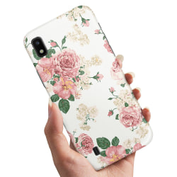 Samsung Galaxy A10 - Skal / Mobilskal Retro Blommor