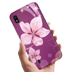 Samsung Galaxy A10 - Skal / Mobilskal Vit Blomma