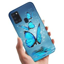 Samsung Galaxy A21s - Skal / Mobilskal Glittrande Fjärilar