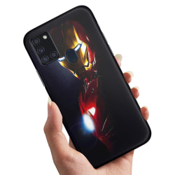 Samsung Galaxy A21s - Skal / Mobilskal Glowing Iron Man