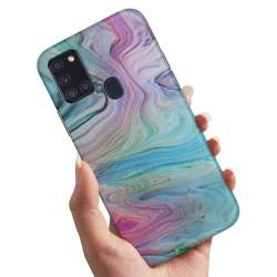 Samsung Galaxy A21s - Skal / Mobilskal Målarfärg Mönster