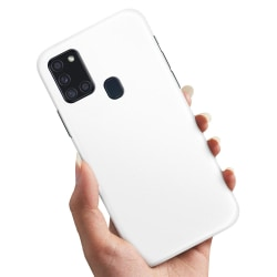 Samsung Galaxy A21s - Skal / Mobilskal Vit