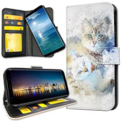 Samsung Galaxy A40 - Plånboksfodral Katter