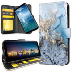 Samsung Galaxy A40 - Plånboksfodral Konstmönster
