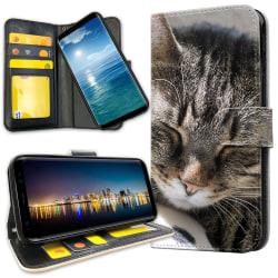 Samsung Galaxy A40 - Plånboksfodral Sovande Katt