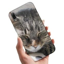 Samsung Galaxy A40 - Skal / Mobilskal Sovande Katt