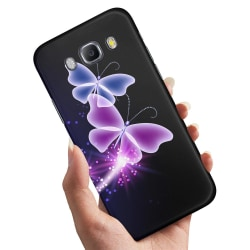 Samsung Galaxy A5 (2015) - Skal / Mobilskal Lila Fjärilar