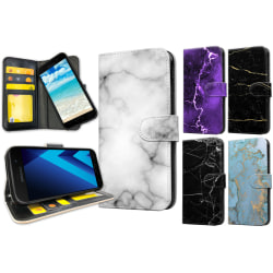 Samsung Galaxy A5 (2017) - Marmor Plånboksfodral / Skal 41