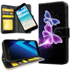 Samsung Galaxy A5 (2017) - Plånboksfodral Lila Fjärilar purple