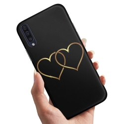 Samsung Galaxy A50 - Skal / Mobilskal Double Hearts