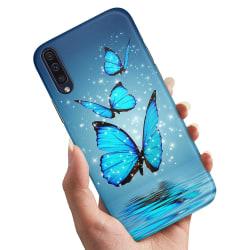 Samsung Galaxy A50 - Skal / Mobilskal Glittrande Fjärilar