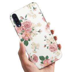 Samsung Galaxy A50 - Skal / Mobilskal Retro Blommor
