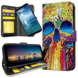 Samsung Galaxy A51 - Plånboksfodral Döskallemönster