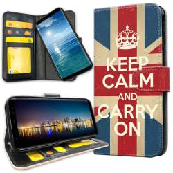 Samsung Galaxy A51 - Plånboksfodral Keep Calm Carry On