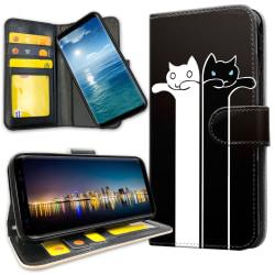 Samsung Galaxy A6 (2018) - Plånboksfodral Avlånga Katter