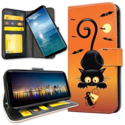 Samsung Galaxy A71 - Plånboksfodral Katt och Mus