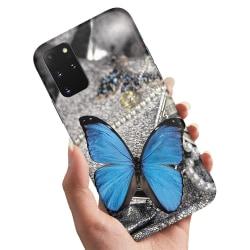 Samsung Galaxy A71 - Skal / Mobilskal Blå Fjäril