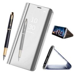 Samsung Galaxy A8 (2018) - Mobilfodral / Fodral Spegel - Silver Silver