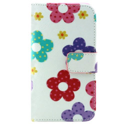 Samsung Galaxy Alpha Plånboksfodral Blommor