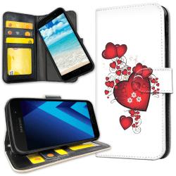 Samsung Galaxy J3 (2016) - Plånboksfodral Hjärtan
