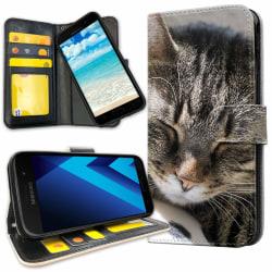 Samsung Galaxy J3 (2016) - Plånboksfodral Sovande Katt