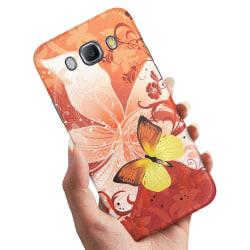 Samsung Galaxy J5 (2016) - Skal / Mobilskal Fjäril & Blomma