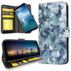 Samsung Galaxy Note 10 Plus - Plånboksfodral Blåa Fragment