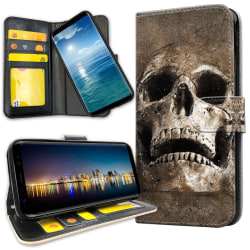Samsung Galaxy Note 10 Plus - Plånboksfodral Cracked Skull