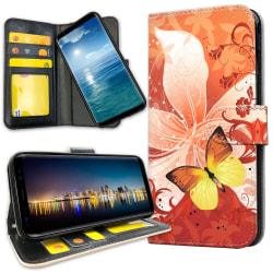 Samsung Galaxy Note 10 Plus - Plånboksfodral Fjäril & Blomma