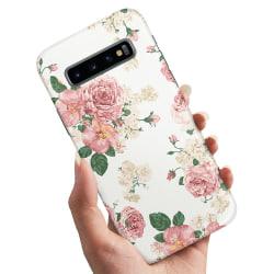Samsung Galaxy S10 Plus - Skal / Mobilskal Retro Blommor
