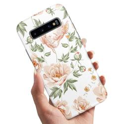 Samsung Galaxy S10 - Skal / Mobilskal Blommönster