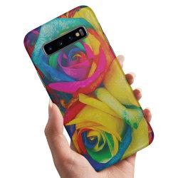 Samsung Galaxy S10 - Skal / Mobilskal Färgade Rosor