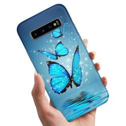 Samsung Galaxy S10 - Skal / Mobilskal Glittrande Fjärilar