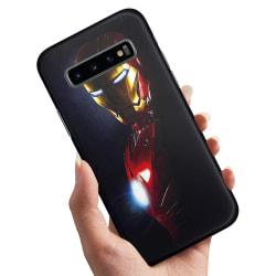 Samsung Galaxy S10 - Skal / Mobilskal Glowing Iron Man