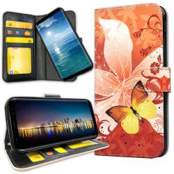 Samsung Galaxy S10e - Plånboksfodral Fjäril & Blomma